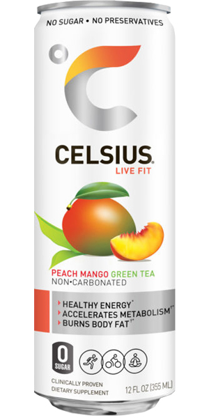 Photo of Celsius Peach Mango Green Tea